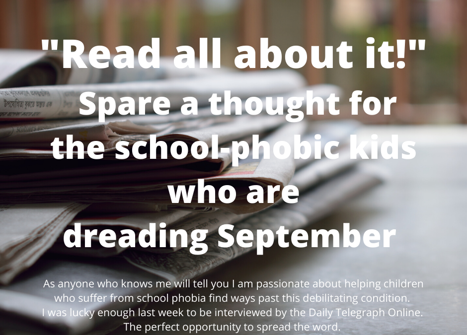 Spare a thought for the school-phobic kids who are dreading September